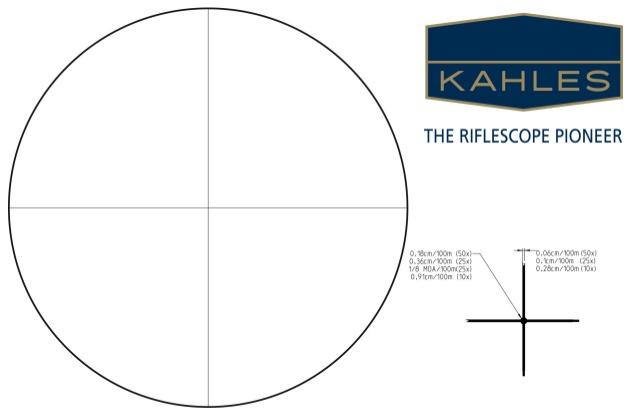 kahles reticle subtensions crosshair dot - دوربین بنچ رست