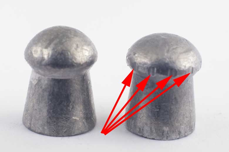 Rifling affect on the pellets - هد ساچمه تفنگ بادی، چه انتظاری باید داشته باشیم؟